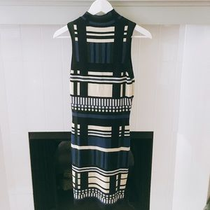 Dresses & Skirts - VINTAGE 60s Mod Block Print Bodycon Mini Dress
